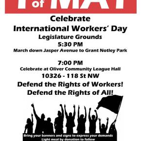 Migrante Alberta holds Workers' Day March on May 1