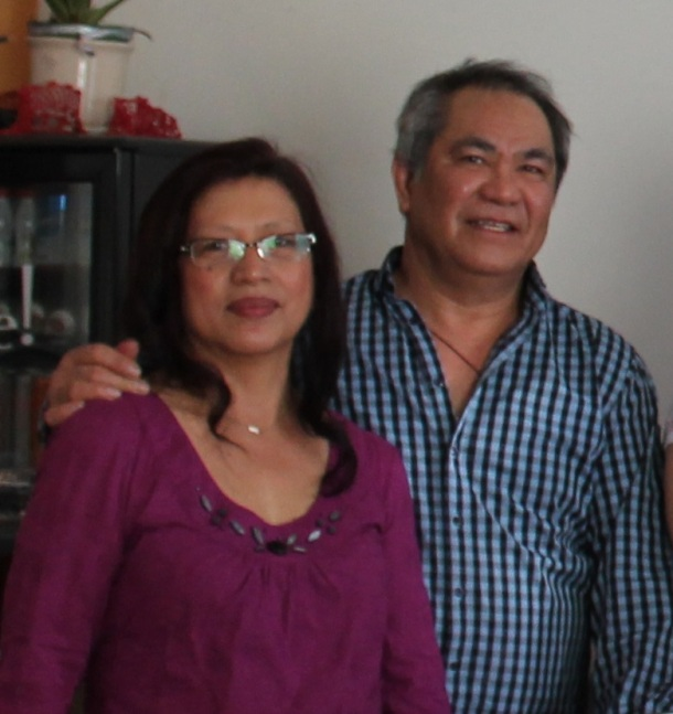 Alex Donado of ISL Centre Ltd. with wife Anna. They have two sons.(Pinoy Edmonton News)