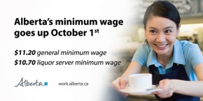 Minimum wage going up to $11.20 October 1