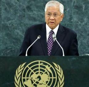 Secretary Del Rosario explains RP's position in arbitration case vs. China over West PhilippineSea