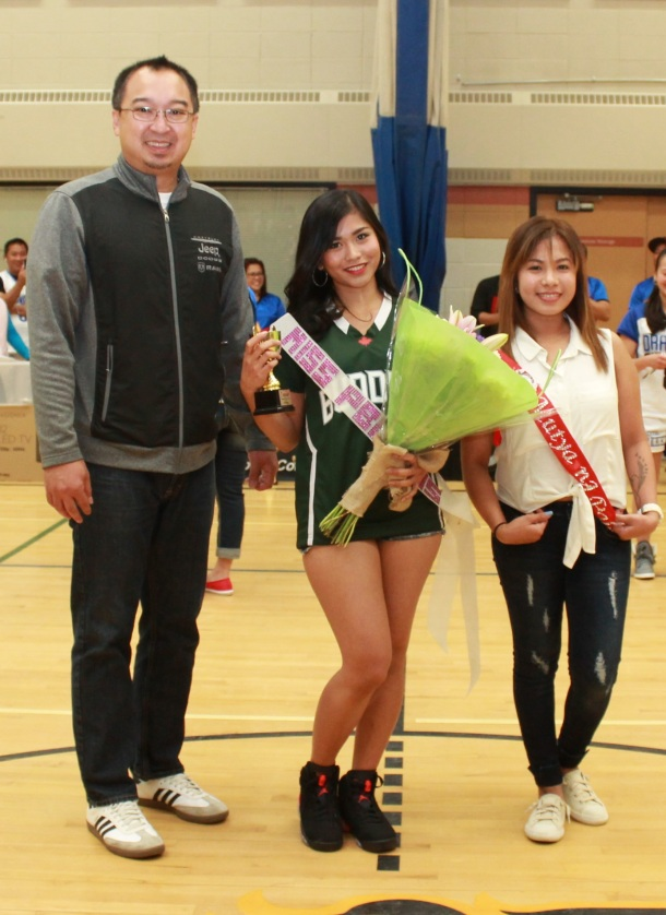 Crosstown Auto Centre's Chester Tiongson with muse of the league winner Micaela Cortez of Slave Lake.(pinoy edmonton news)