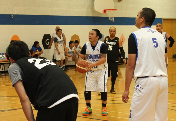 Jeff Canada of ATB Financial-Edson at the free throw line in their game against KIA North Edmonton, Saturday.(Photo by Moses Billacura/pinoy edmonton news)