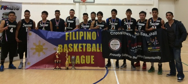 Organizer Glenn Kubaron(extreme right) with the top two teams.(Photo courtesy of Ches Tiongson)