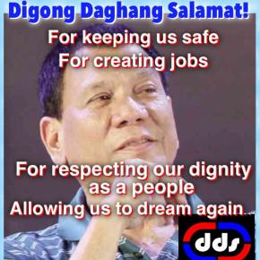 `Digong, Daghang Salamat' event at Rizal Park; Backers resolute in their support to Duterte `no matter what his final decision willbe'