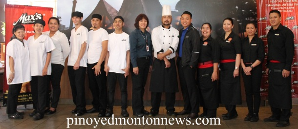 The staff of Max's Restaurant in Edmonton is more than happy to serve you.(Photo by Moses Billacura/pinoy edmonton news)