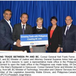 British Columbia Province to open Trade and Investment Office in Manila