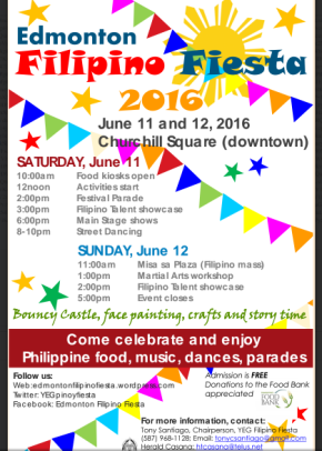 YEG Pinoy Fiesta on June 11-12