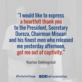 Norwegian ASG captive now in custody of Presidential Peace AdviserDureza