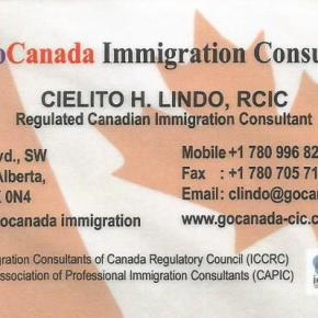 Looking for a Regulated Canadian Immigration Consultant, call Cielito Lindo at 780-996-8254