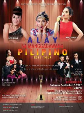 Super Teklah, Donita Nose, Jennie Gabriel to perform at `Alay Sa Manggagawang Pilipino' Tour; For tickets, call Annie at 780-266-3772.(Photo courtesy of Annie Chua)
