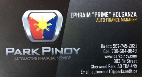 prime holganza business card