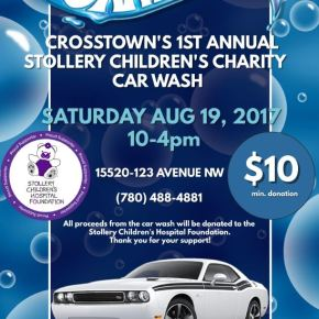 Crosstown Auto's first charity car wash raises close to $5,000 for Stollery Children's Hospital Foundation