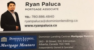 In need of a mortgage? Kabayan, talk to Ryan Paluca at 780-886-4840.