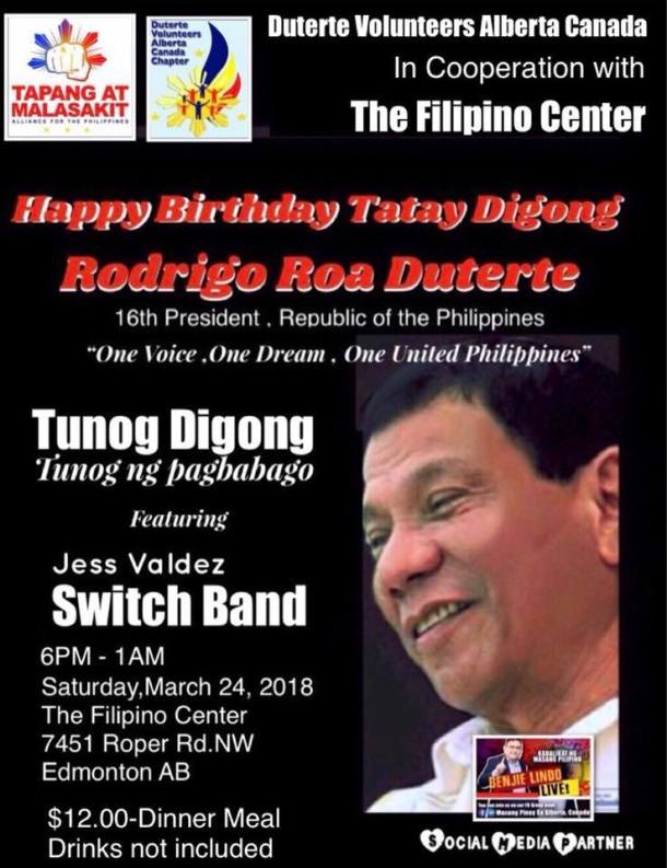 Duterte Volunteers Digong Bday