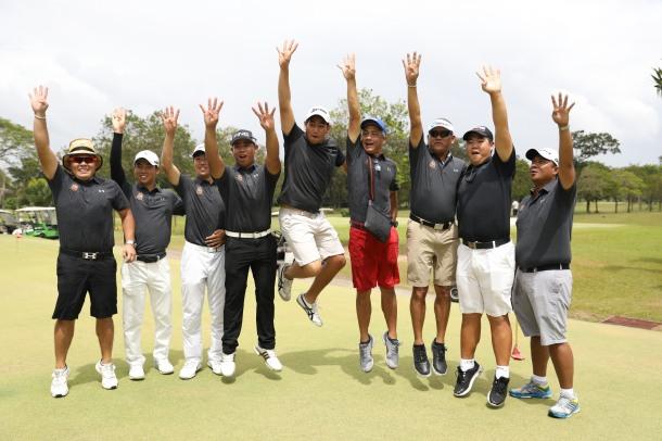 PAL golf Southwoods victory jump