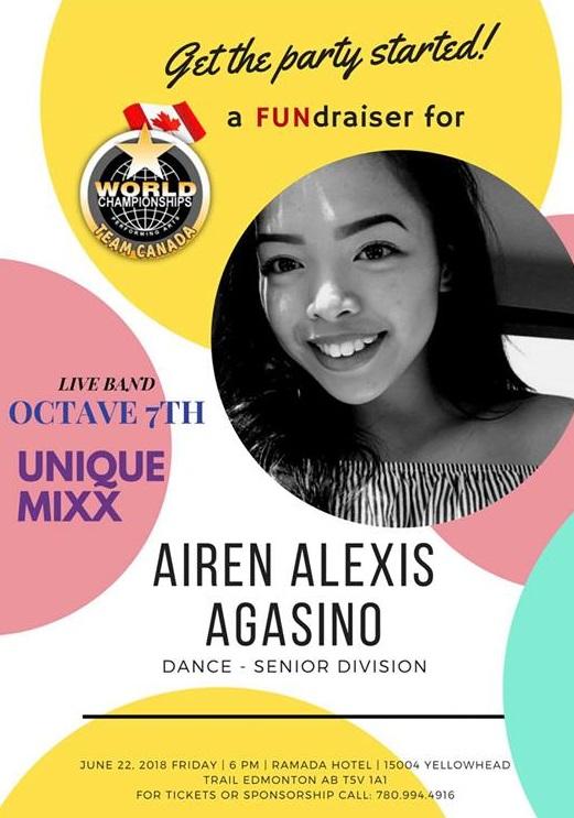 Airen Alexis Agasino Fund Raising WCOPA