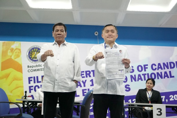 bong go filing with prrd