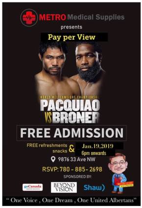 GenSan sets free viewing of Pacquiao-Bronerfight