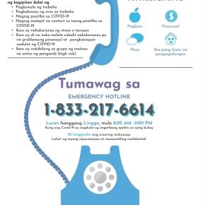 Tulong na ipapaliwanag sa wikang Tagalog para sa mga Pilipino sa Calgary na naapektuhan ngCOVID-19