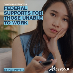Federal supports  available for those unable to work duringCovid-19
