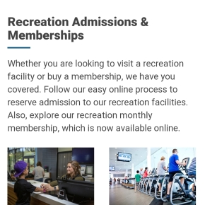 Recreation facilities continue reopening thisweek