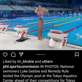 Pinay swimmer qualifies for semis inTokyo