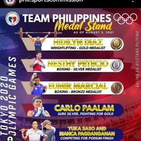 Team Philippines – Aug 7 Competition Schedule (as of 0806, 01:25PM)
