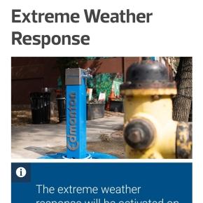 Public Service Announcement:  Extreme weather responseactivated