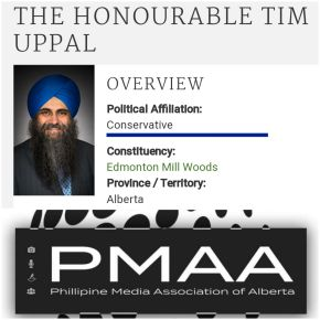 """Watch the interview: 3rd PMAA's """"Meet The Press"""" with guest MP Tim Uppal at Palabok House Restaurant, September12"""