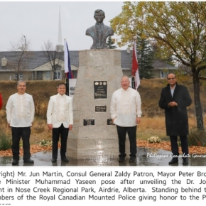 First Rizal monument unveiled inAirdrie